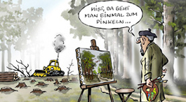 Cartoon von Frank Bahr Maler